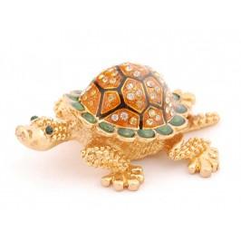 Кутийка за бижута във формата на костенурка - фаберже, декорирана с камъни