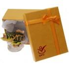 Декоративна метална кутийка за бижута - риба върху вълна