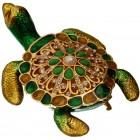 Декоративна кутия за бижута - красива костенурка