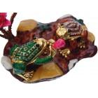 Декоративна метална кутийка за бижута - две жабки