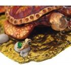 Декоративна метална кутийка за бижута - красива костенурка с две малки кустенурки