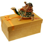 Декоративна двойна метална кутийка за бижута