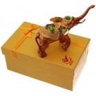 Декоративна метална кутийка за бижута - слон