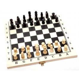 Шах в дървена кутия, удобен за питници или за плажа