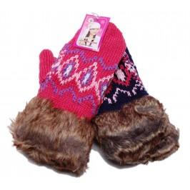 Плетени женски ръкавици с подплата и пух