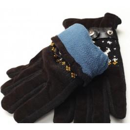 Меки и удобни мъжки ръкавици от изкуствен велур и кожа