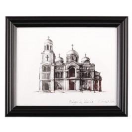 Картина с рамка - графика - Варненската катедрала