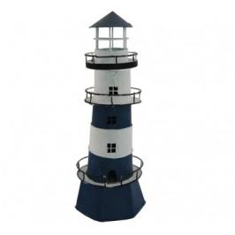Сувенирен метален свещник - морски фар - 30см