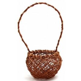 Красива декоративна кошница, изработена от импрегниран канап
