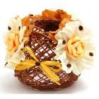 Красива декоративна фигура ръчно изработена от импрегниран канап