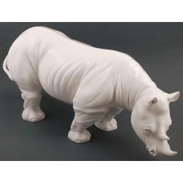 Декоративна фигура - носорог, изработен от порцелан