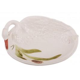 Декоративна фигура - кашпа - лебед, изработен от порцелан