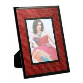 Красива стъклена рамка, украсена с цветен брокат