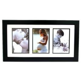 Черна мулти рамка за 3 снимки