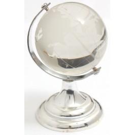 Декоративенглобус от стъкло със сребриста поставка