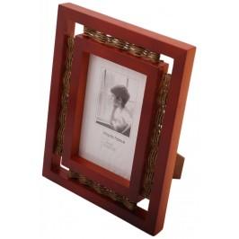 Красива фоторамка за снимка, изработена от дърво