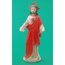 Декоративна коледна фигурка - Иисус Христос, изработена от гипс