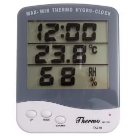 Електронен термометър с влагомер и часовник
