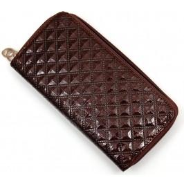 Елегантен дамски портфейл от щампована еко кожа