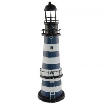 Сувенирен метален свещник - морски фар - 46см