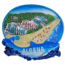 Декоративна релефна фигурка с магнит - морски плаж
