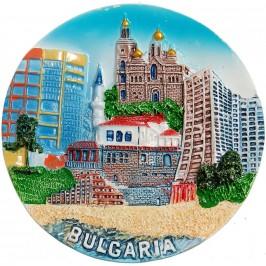 Декоративна релефна фигурка с магнит - забележителности от Черноморието