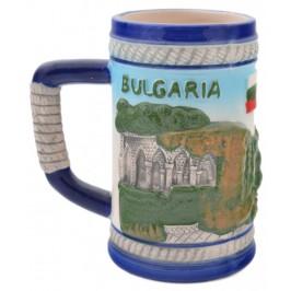 Сувенирна чаша порцелан с релефни забележителности от Балчик
