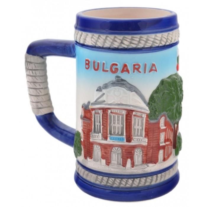 Сувенирна чаша порцелан с релефни забележителности от Варна