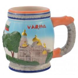 Сувенирна чаша от порцелан с релефни забележителности от Варна