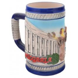 Сувенирна чаша порцелан с релефни забележителности от София
