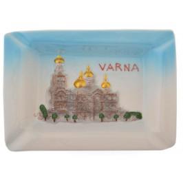 Релефен сувенирен пепелник - Варна - Катедралата