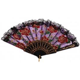 Сувенирно ветрило с текстил цветен принт с брокат