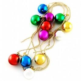 Коледна украса - блестящ гирлянд с декоративни топки - дължина - 2