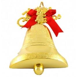 Красива коледна декорация - тематично аранжирана коледна камбанка - 24х16