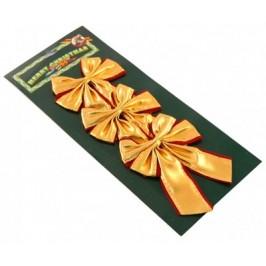 Комплект от 3 броя блестящи златисти панделки за окачване на елха