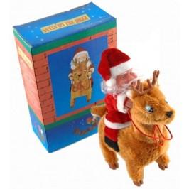 Декоративна светеща фигурка - Дядо Коледа и елeнче - с височина - 20см