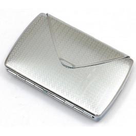 Стилна метална табакера с огледало за 10 цигари