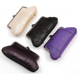 Стилно дамско портмоне от изкуствена кожа с две прегради, цип и елегантна закопчалка