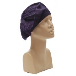 Зимна шапка, тип барета - плетена