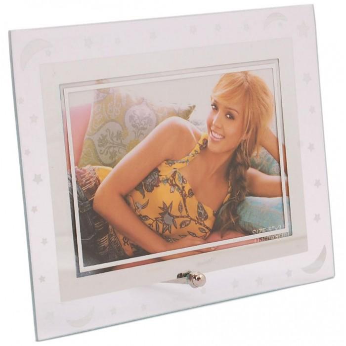 Стъклена рамка за снимка, декорирана със звезди