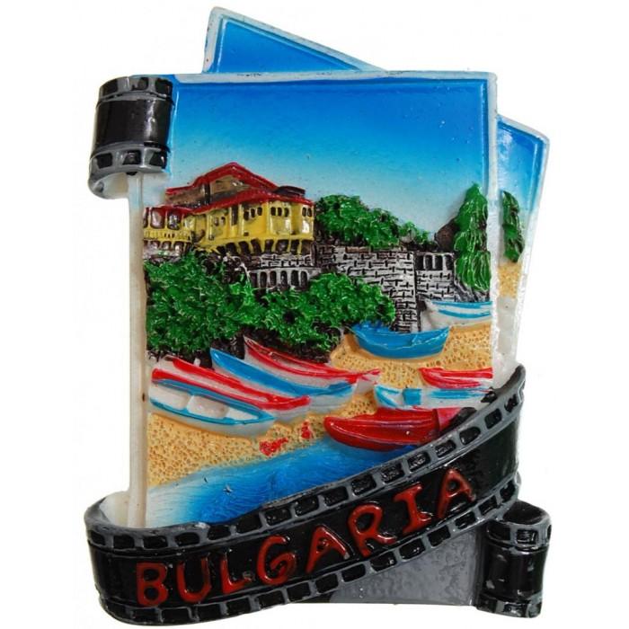 Декоративна фигурка с магнит - капитанска среща в Несебър и надпис България