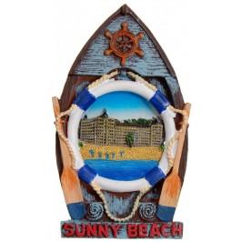 Декоративна релефна фигурка с магнит - лодка - Слънчев бряг