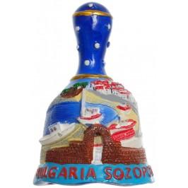 Сувенирна гипсова фигурка с магнит камбанка - Созопол