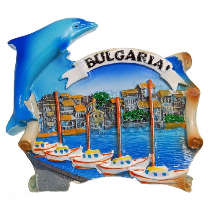 Декоративна фигурка с магнит, декорирана с делфин