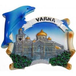 Декоративна магнитна фигурка с делфин - Варненската катедрала