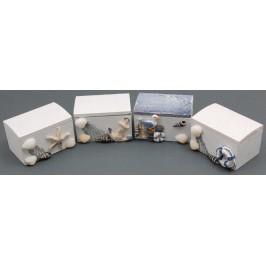Сувенирена дървена кутия за бижута, красиво декориран с морски мотиви