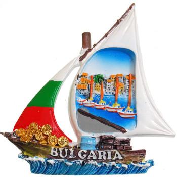Декоративна гипсова фигурка с магнит - платноходка - лодки