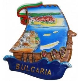 Декоративна гипсова фигурка с магнит - платноходка -морски бряг