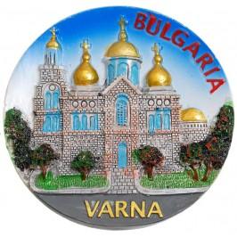 Декоративна релефна фигурка с магнит - Варненската катедрала