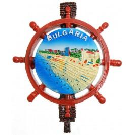 Сувенирна фигурка с магнит - морско крайбрежие, изработена от полирезин